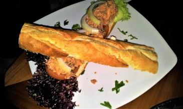 The yummy tuna baguette